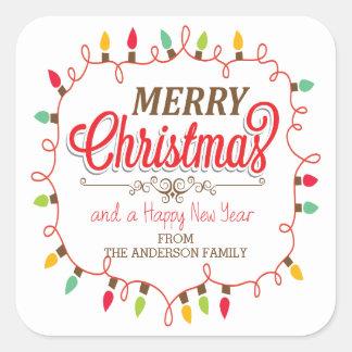 Custom Merry Christmas Bright Lights Sticker