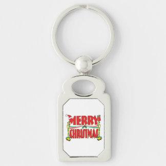 Custom Merry Christmas  Button Watch Keychain