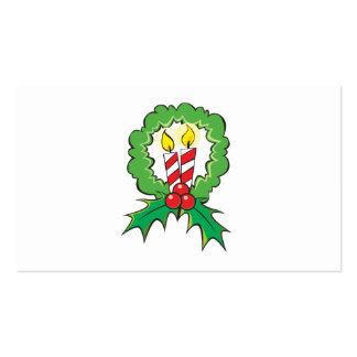 Custom Merry Christmas Candle Lantern Invitation Business Card Template