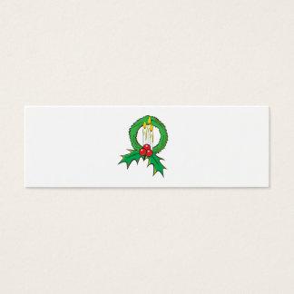 Custom Merry Christmas Candle Wreath Sticker Bags Mini Business Card