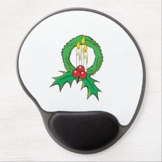 Custom Merry Christmas Candle Wreath Wrapper Mugs Gel Mousepad