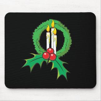 Custom Merry Christmas Candle Wreath Wrapper Mugs Mousepad
