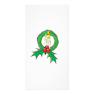 Custom Merry Christmas Candle Wreath Wrapper Mugs Picture Card