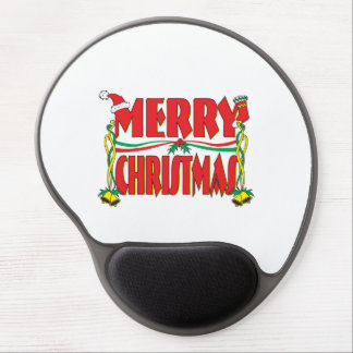 Custom Merry Christmas Gift Wrapper Clock Pillows Gel Mouse Pad