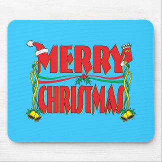 Custom Merry Christmas Gift Wrapper Clock Pillows Mousepad