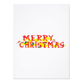 Custom Merry Christmas Invitations Stamps Labels