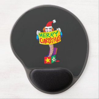 Custom Merry Christmas Jack in a Box Wind Up Cards Gel Mousepad