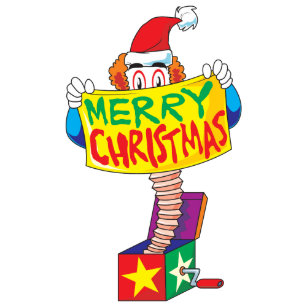 custom merry christmas jack in a box wind up cards wall sticker - Jack In The Box Open On Christmas
