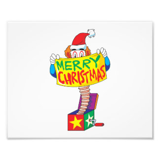 Custom Merry Christmas Jack in a Box Wind Up Toy Photo Art