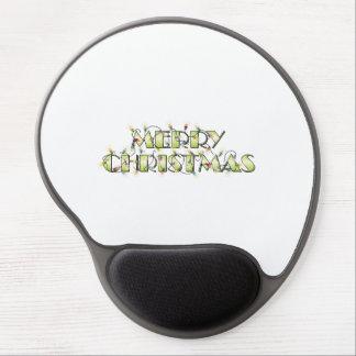 Custom Merry Christmas Lights Greeting Cards Folio Gel Mouse Pad