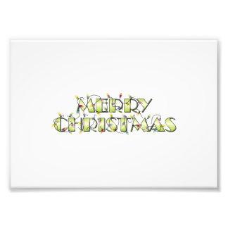 Custom Merry Christmas Lights Greeting Cards Folio Photograph