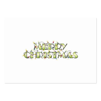 Custom Merry Christmas Lights Invitations Postage Large Business Card