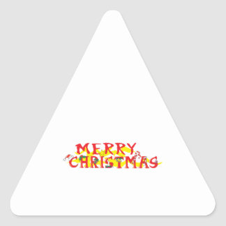Custom Merry Christmas Mugs Buttons Hats Watches Triangle Sticker