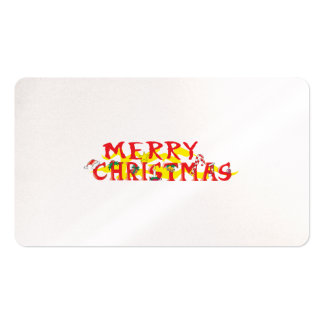 Custom Merry Christmas Poker Chips Gift Wrappers Business Card