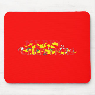 Custom Merry Christmas Poker Chips Gift Wrappers Mouse Pad
