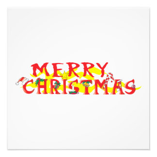 Custom Merry Christmas Poker Chips Gift Wrappers Photograph