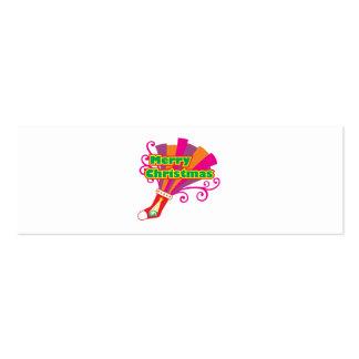 Custom Merry Christmas Red Stocking Mug Button Pin Mini Business Card