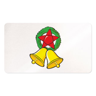 Custom Merry Christmas Star Lantern Gift Wrappers Business Card Templates