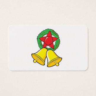 Custom Merry Christmas Star Lantern Gift Wrappers Business Card