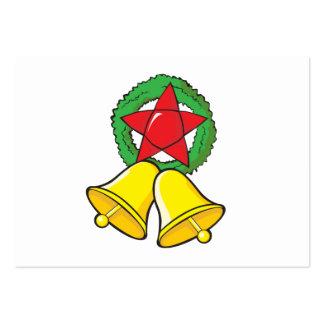 Custom Merry Christmas Star Lantern Invitation Business Card Template