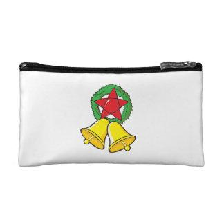 Custom Merry Christmas Star Lantern Stickers Makeup Bag