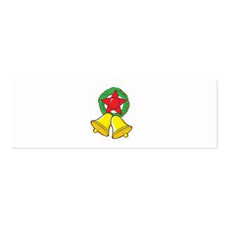 Custom Merry Christmas Star Lantern Stickers Business Card Templates