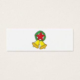 Custom Merry Christmas Star Lantern Stickers Mini Business Card