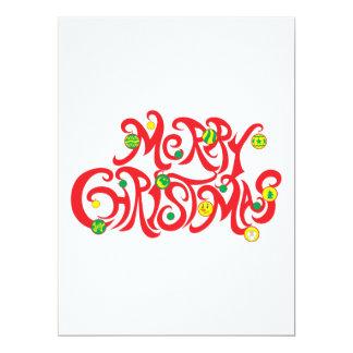 Custom Merry Christmas with Christmas Balls Card