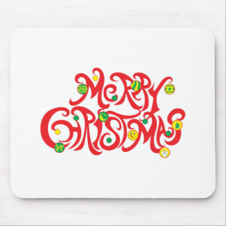 Custom Merry Christmas with Christmas Balls Cards Mouse Pads