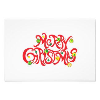 Custom Merry Christmas with Christmas Balls Cards Photo Art