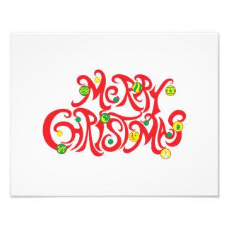 Custom Merry Christmas with Christmas Balls Cards Art Photo