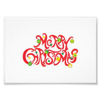 Custom Merry Christmas with Christmas Balls Cards Photo Print