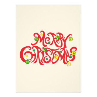 Custom Merry Christmas with Christmas Balls Announcement