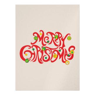 Custom Merry Christmas with Christmas Balls Invitation