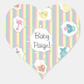 Custom Message Baby Heart Sticker