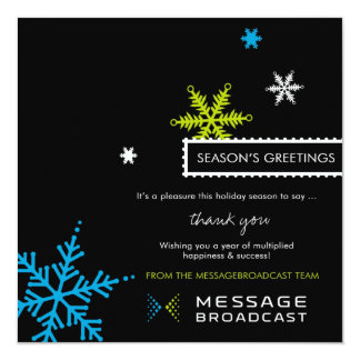 Custom Message Broadcast Holiday Card