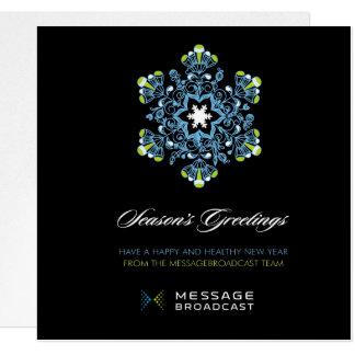 Custom Message Broadcast Holiday Card 2