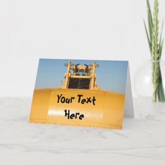 Custom Message Bulldozer Card