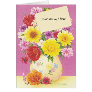 Custom Message Floral Vintage Any Occasion Cards