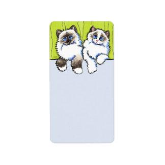 Custom Message Ragdoll Cats Off-Leash Art™ Label