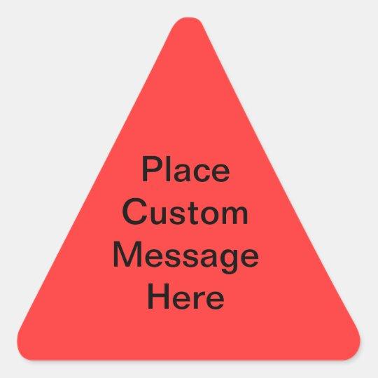 Custom Message Warning Label