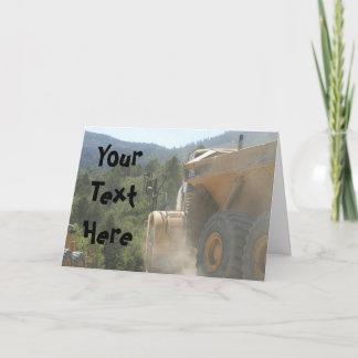 Custom Message Working Dump Truck Card