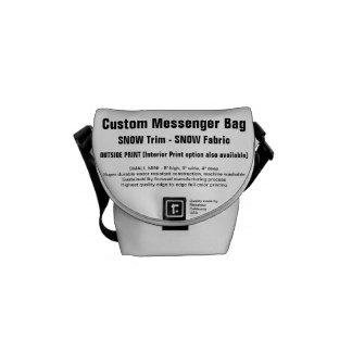 Custom Messenger Bag (S) SNOW Trim, SNOW Fabric