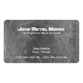 Custom Metal Works Double-Sided Standard Business Cards (Pack Of 100)