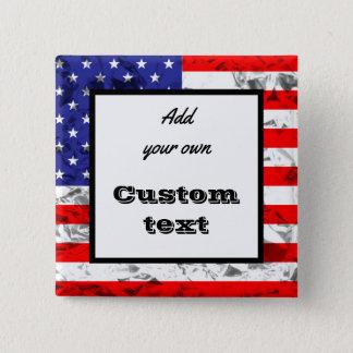 Custom Metallic American Flag Design 2 Button
