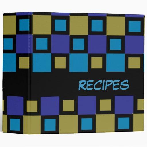 "Custom Mid-Century Modern Mosaic 2"" Recipe Binder"