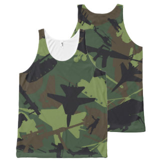 Custom Military Camouflage Pattern All-Over-Print Tank Top