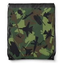 Custom Military Camouflage Pattern Drawstring Bag