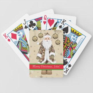 Custom Military Camouflage Santa Playing Cards