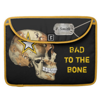 Custom Military Camouflage Skull Star & Dog Tags MacBook Pro Sleeves